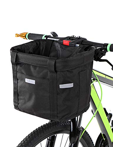 - lixada Bicycle Front Basket Removable Waterproof Bike Handlebar Basket Pet Carrier Frame Bag
