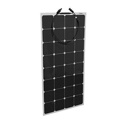 ALEKO 100W 100-Watt Semi Flexible Solar Monocrystalline Panel 12V Solar Module Power System by ALEKO (Image #1)