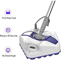 Steam Mop - Steam Cleaner with Automatic Steam Control. Mops for Floor Cleaning with Excellent Manoeuvrability, Steam Floor Cleaner with 20FT Cord 9Oz Water Tank with 1 Cleaning Mop, 1 Year Warranty