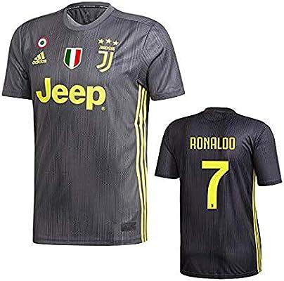 adidas Original Juventus Camiseta Ronaldo Negra Transfer 2018-19 Adulto y Niño (XXL): Amazon.es: Deportes y aire libre