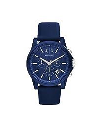 Reloj de silicona Armani Exchange AX1327, Hombre, Azul