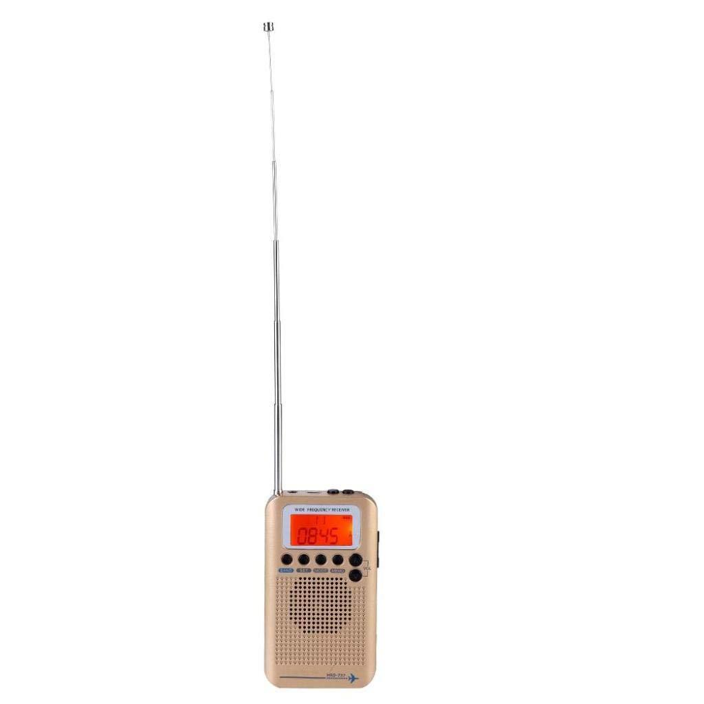 Tonysa Esc/áner de Receptor de Radio multibandas Esc/áneres//de Mano//Bandas de frecuencia Air FM Am CB SW VHF Incorporado en bater/ía port/átil Recargable Radio de Viaje Negro