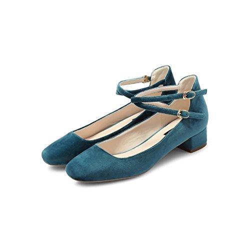 Zeppa Da scuro Scarpe Tacchi Scarpe Tacchi Jane Donna dimensioni Con Verde Personalizzate Con Tacchi Alti Con 36 Scarpe Con Mary Scarpe Con I WENJUN I Scarpe Scarpe Scarpe Colore FqC1F5w