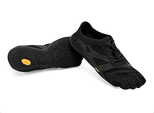 Vibram FiveFingers Women's KSO EVO Barefoot Shoes Black 37 & Pemium Toesock Bundle