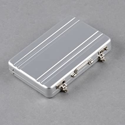 Amazon 1 x silver aluminum mini briefcase password business 1 x silver aluminum mini briefcase password business bank credit card case colourmoves