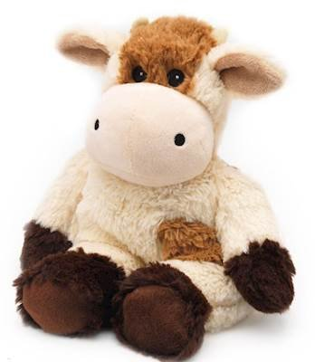 COW - WARMIES Cozy Plush Heatable Lavender Scented Stuffed Animal
