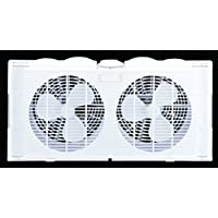 CoolWorks F-5280A 7 2-Speed Plastic Twin Window Fan 2, White