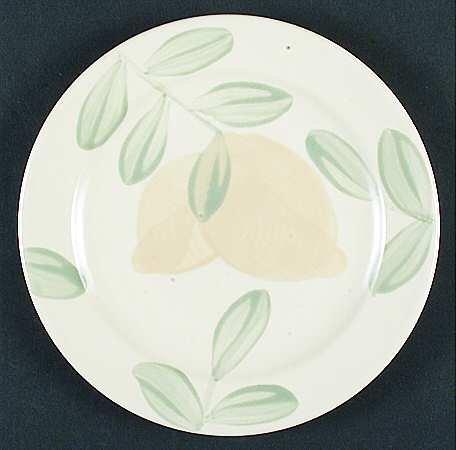 PFALTZGRAFF Vera Cruz SET/6 ~ SALAD Plates ~MINT/Unused~Handpainted Yellow Lemons, Green Leaves~Discontinued 2002