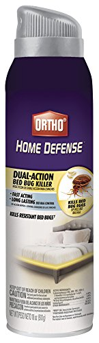Ortho Home Defense Dual-Action Bed Bug Killer Aerosol Spray, 18-Ounce (Kills Bed Bugs, Fleas, Dust Mites & Stink Bugs)