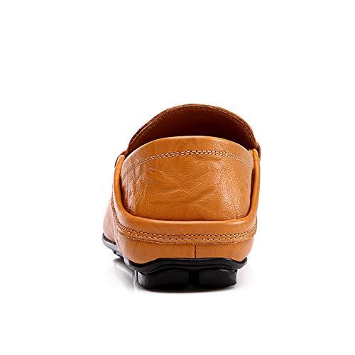 Mocassini casual guida in mano Morbido 0cm leggero 0cm da pelle a unico vera piatte design 24 lavoro fatti Scarpe gommino Scarpe e da Scarpe uomo Dimensioni 28 Scarpe marrone Mocassino gommino da 0n7qw7UrxI