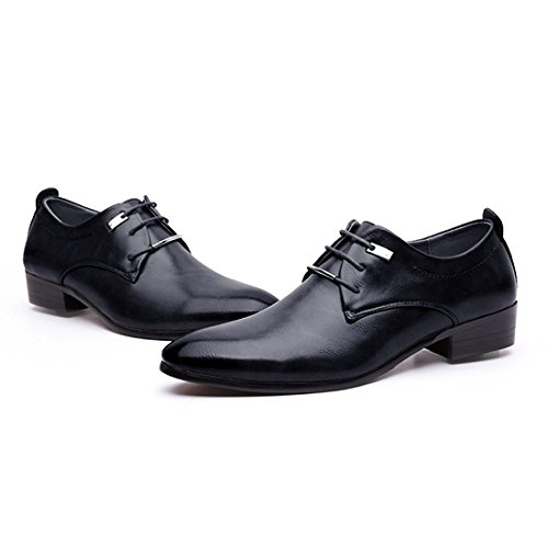 JINGJING Men's Pointed Toe Lace up Formal Oxfords Business Casual Wedding Dress Shoes by JINGJING (Image #5)