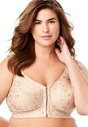 Elila Jacquard Front Hook Support Softcup #1515 Nude 40J