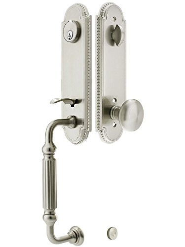 Orleans Style Tubular Handleset In Satin Nickel With Providence Knobs And 2 3/8