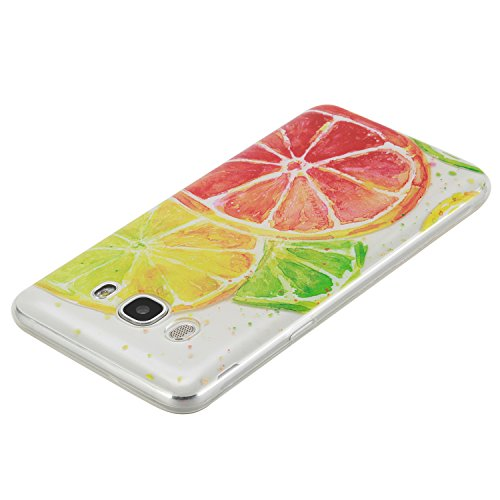 Funda Carcasa Transparente Silicona para Samsung Galaxy S7[con Gratis Pantalla Protector],CaseHome Único Patrón de Colores Diseño Cristal Claro Ultra Delgado Suave Durable Caucho Parachoque Alta Resis Limón