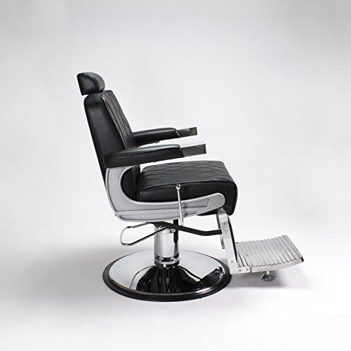 Amazon.com: Silla de barbero negro 4 King Heavy Duty ...