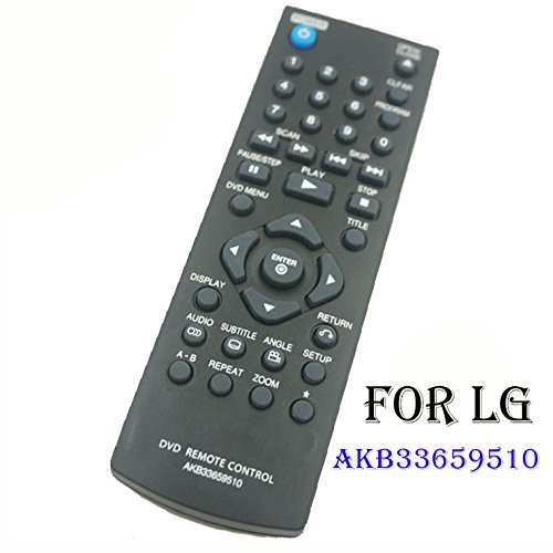 use for LG DVD remote control AKB33659510