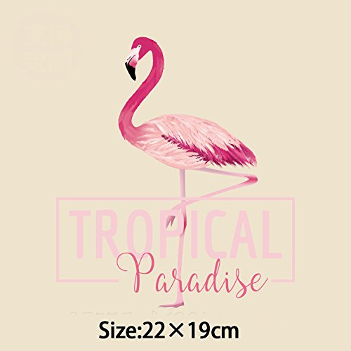 Patches - Tropical Paradise Flamingo Pyrography Heat Transfer Iron On Patches Shirt Clothing Decoration - Transfers Iron Patches Iron Transfer Beach Print Heat Flamingo Patch Dinosaur Keych