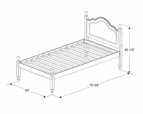 Palace Solid Wood Platform Bed 1434, Size, 12 Slats Trundle, Rail Sold Separately.