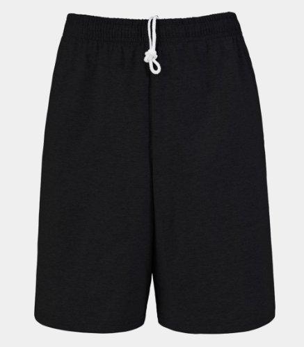 Fruit of the Loom Men's Jersey Short Black XL