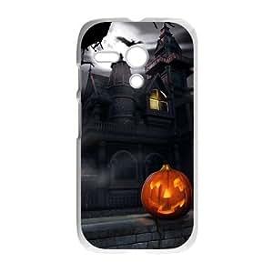 Motorola G Cell Phone Case White Halloween SUX_878643