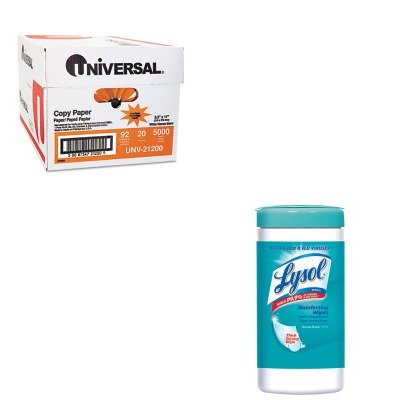 KITRAC77925EAUNV21200 - Value Kit - LYSOL Brand Ocean Fresh Scent Sanitizing Wipes (RAC77925EA) and Universal Copy Paper (UNV21200)