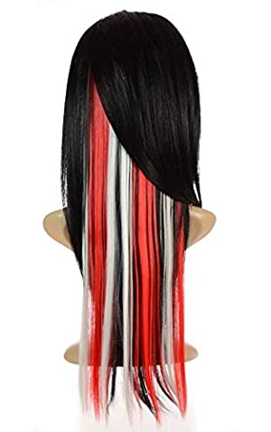 Hair By MissTresses Hair Flash Clip in Hair Extensions Six Clips includes 3 Red Clips / 3 White Clips by Hair By MissTresses
