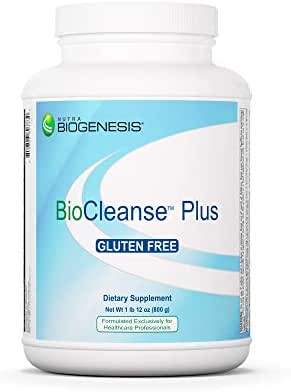 Nutra BioGenesis BioCleanse Plus - Digestive Enzymes, Milk Thistle and Plant Protein Blend for Digestion, Detox and Liver Cleanse - Gluten Free, Powder - 1.9 Lb