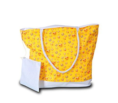 Trendy 50 Il Per Media Borsa Wave Mod Store Smile Mare X 38 Pochette 18 giallo Cm Con 736025 YvxUUIRw