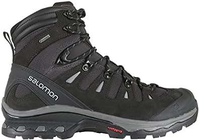 SALOMON Men's Quest 4D 3 GTX Backpacking Boots, Phantom/Black, 8 D US