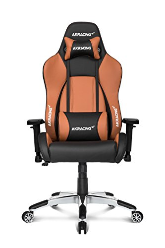 AKRacing Premium Series Luxury Gaming Chair with High Backrest, Recliner, Swivel, Tilt, Rocker and Seat Height Adjustment Mechanisms with 5/10 warranty (Brown) (Mechanism Height Adjustment)
