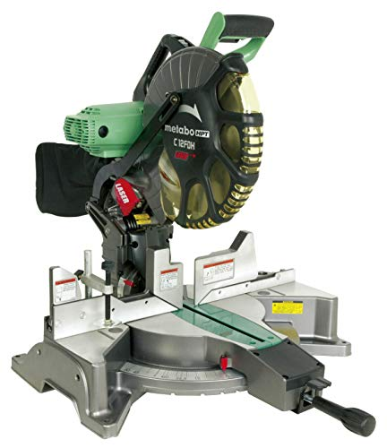 Metabo HPT C12FDH 12-inch Double Bevel Compound Miter Saw, Laser Marker System, 15-Amp Motor, Tall Pivoting Aluminum Fence, Micro-Bevel Adjustment Knob, 5 Year Warranty