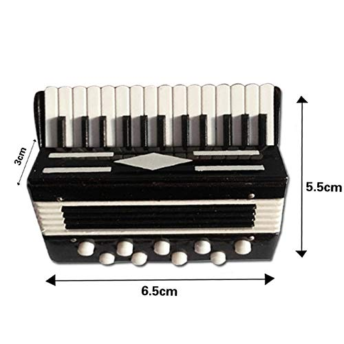 ZAMTAC Mini Cello/Bass Guitar/Lute/Accordion/Zither Model Musical Instrument Replica Ornaments Home Desktop Decoration - (Color: Accordion Model-B) by ZAMTAC (Image #1)