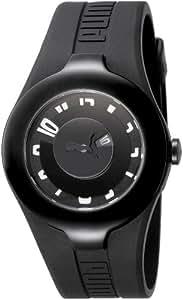 Puma PU101121001 - Reloj analógico de caballero de cuarzo con correa de plástico negra