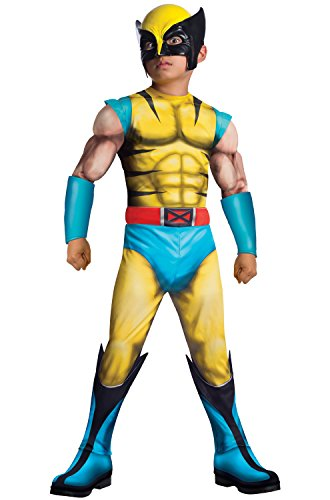 (Rubie's Marvel Classic Universe Child's Deluxe Muscle-Chest Wolverine Costume,)