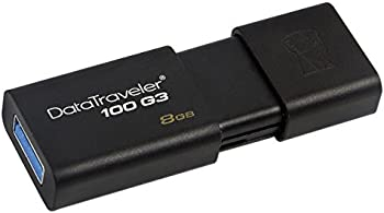 3-Pk.Kingston DataTraveler 8GB USB 3.0 Flash Drive (Black)