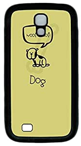 samsung galaxy s4 case,custom samsung galaxy s4 i9500 case,PC Material,Drop Protection,Shock Absorbent,Customize your own cell phone case pattern,black case,Woof Dog