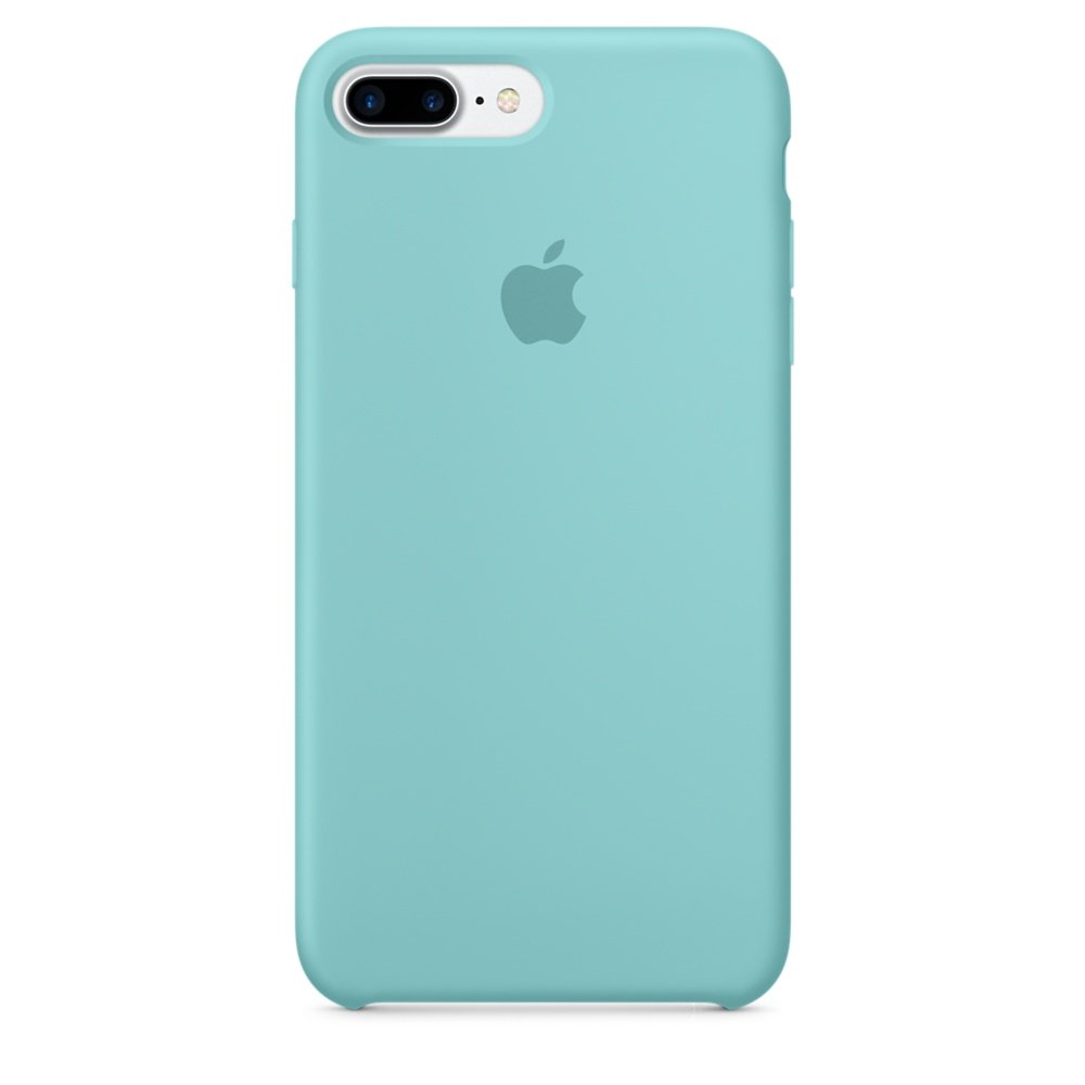 on sale 3c279 28022 Apple Silicone Back Cover Case for iPhone 7 Plus - Sea Blue