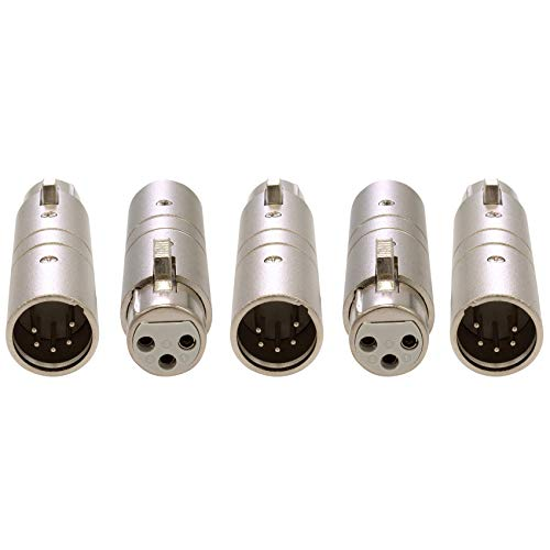 - Pack of 5 - Enttec 70029 Adapter 3 Pin Female to 5 Pin Male Connector for DMX Interface Controller Open Pro Mk2 ODE DMXIS D-Split