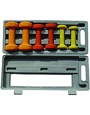مجموعة دامبل بوزن 6 كغم بري سوليد نيوبرين مع علبة من بلاسيتك ABS