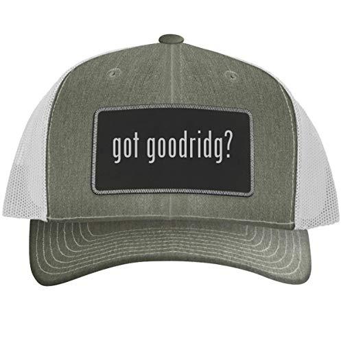 got Goodridg? - Leather Black Metallic Patch Engraved Trucker Hat, Heatherwhite, One Size (Goodridge Full Brake)