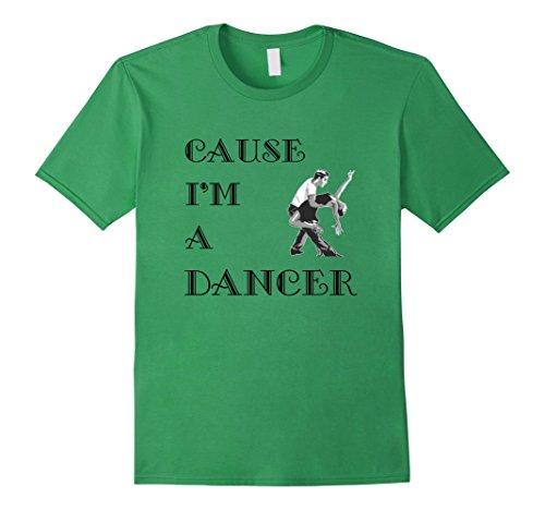 [Men's Dancer T-Shirt Dance Small Grass] (Cabaret Costumes For Men)