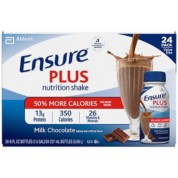Ensure Plus Chocolate Shake, 24 ct. x2 AS by American Standart