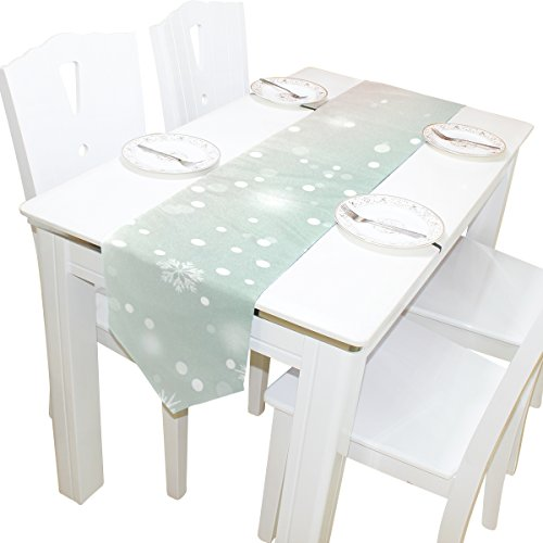 ABLINK Snow World 100% polyester characteristic print double-sided Table Runners