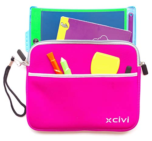 Xcivi Neoprene Protective Carry Case for Boogie Board Magic Sketch Kit (Pink)