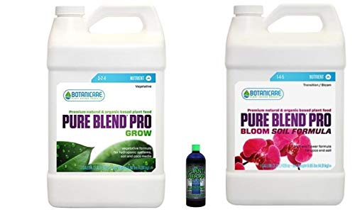 Botanicare Pure Blend Pro Grow/Bloom Soil Formula Combo 1 Gallon Plus Free 2OZ Lost Coast Plant Therapy Pesticide/Fungicide