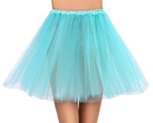 Tutus Tulle Skirt for Girl 3 Layered Ballerina Running Party Skirt - 11 Colors for Choice - Teal Green Ballerina Skirt