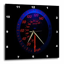 3dRose dpp_80570_2 Auto Speedometer Glows in The Dark Wall Clock, 13 by 13-Inch