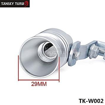 Tamaño L Turbo silbido Bov sonido Simulador Blow Off silenciador de escape Consejo de tuberías TK-W002 (1PC): Amazon.es: Coche y moto