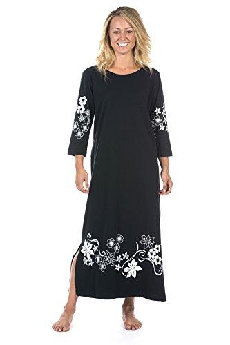 Buy black 3/4 sleeve boat neck dress - 6