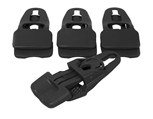 Multiklipp universal Befestigungsclips 4-er Set Mini oder Midi Schwarz Mini